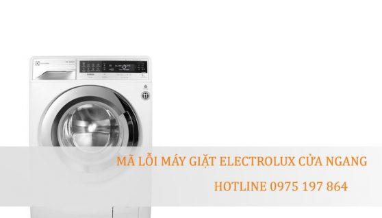 Mã lỗi máy giặt Electrolux cửa ngang – Electrolux Hải Dương