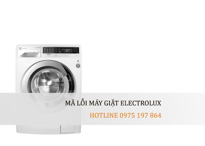 Mã lỗi máy giặt Electrolux – Electrolux Hải Dương